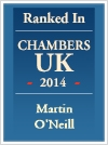 Ranked In Chambers UK 2014 - Martin O'Neill