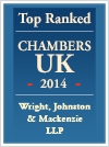 Top Ranked Chambers UK 2014 - Wright, Johnston & Mackenyie LLP